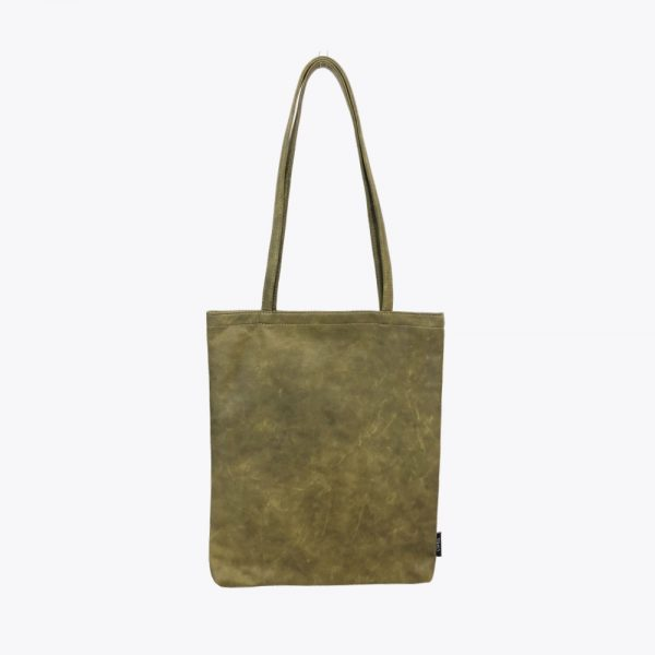 Green-leather-totebag