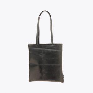 shiny-black-leather-totebag