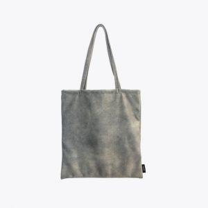 Velvet cement grey totebag
